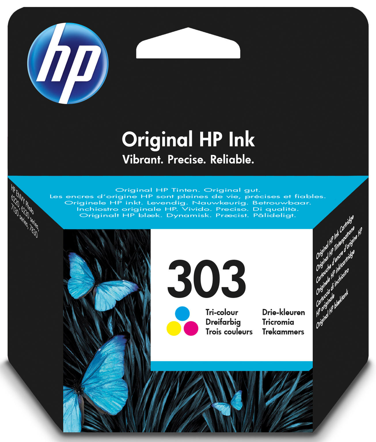 HP 303 Tri-color Original 4ml 165pagina's Cyaan, Geel inktcartridge