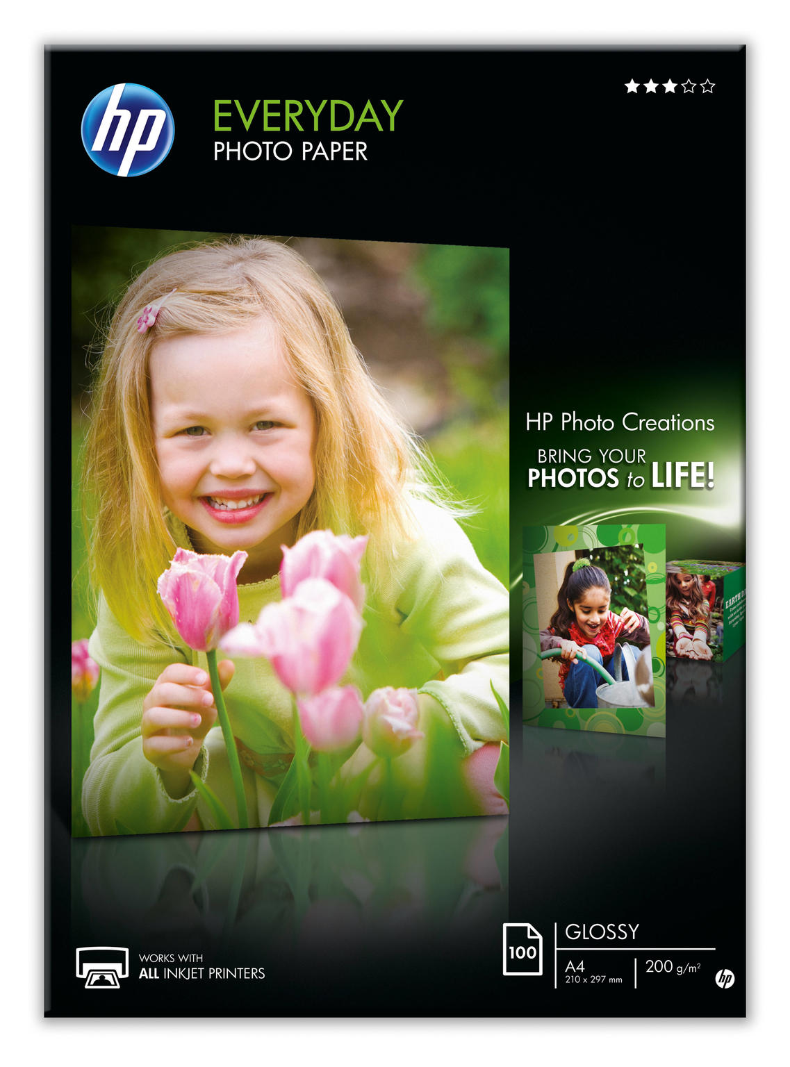 HP Everyday Glossy fotopapier A4 100vel
