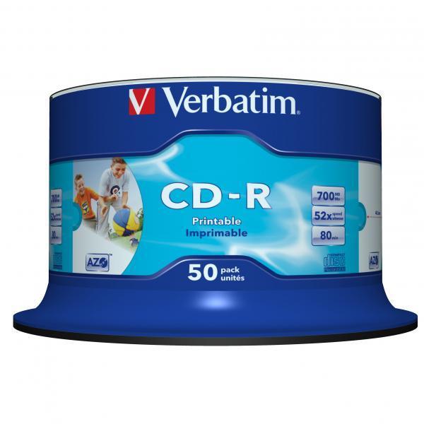 Verbatim CD-R Printable 50 stuks