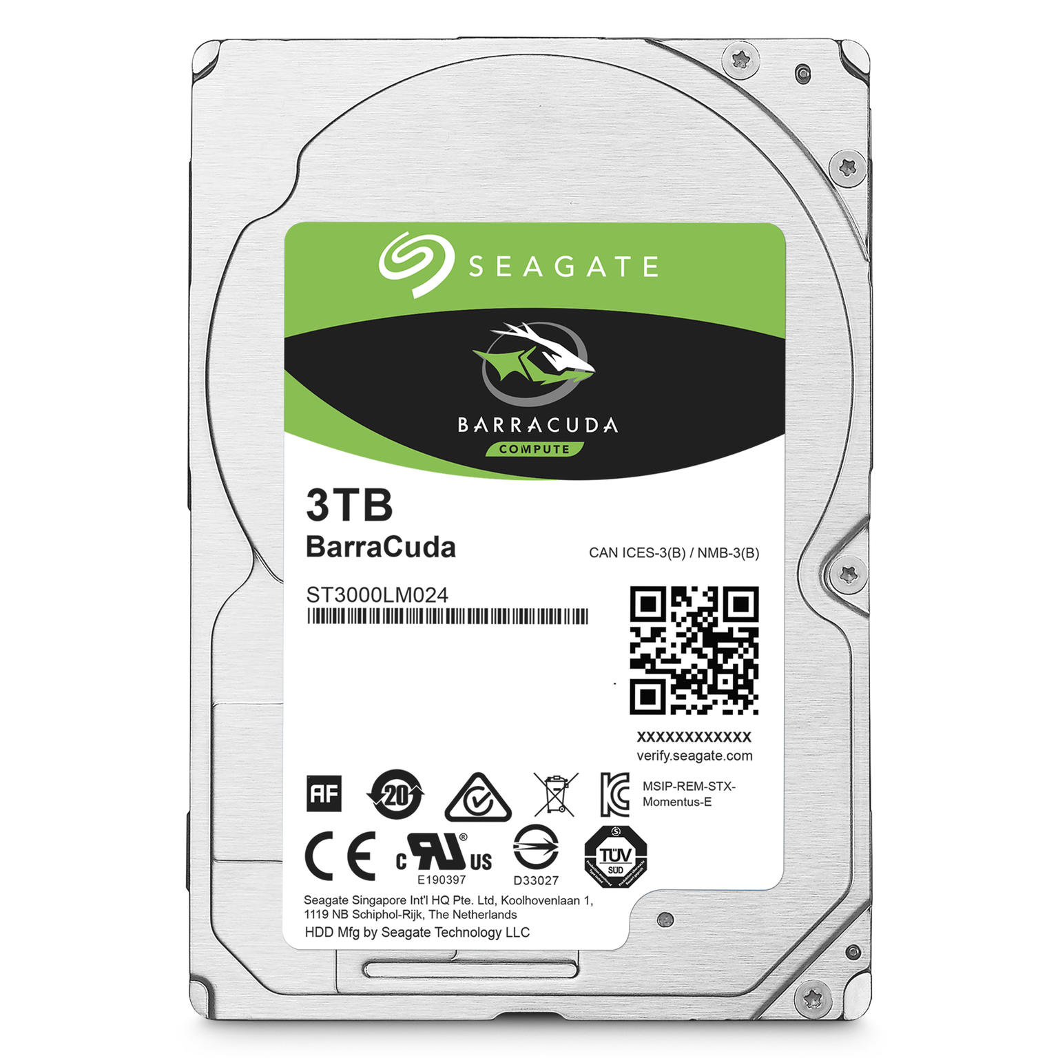 Seagate Barracuda 3 TB Laptop