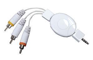 Konig iPod AV kabel 3,5mm naar 3x RCA