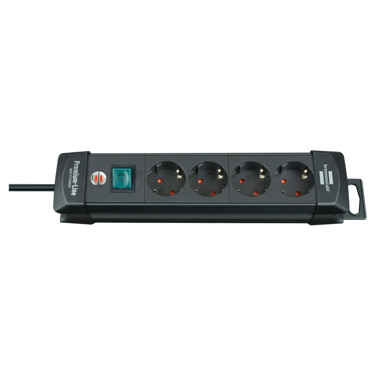 Brennenstuhl Premium-line 4-voudig zwart