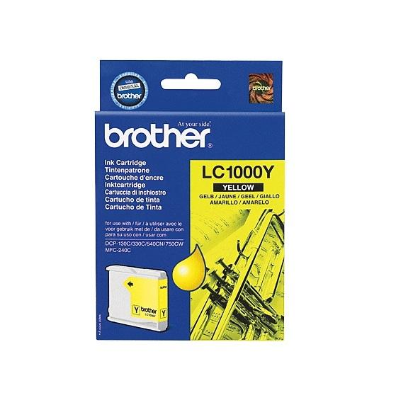 Image of Brother Ink Cartridge Lc1000Y Yellow 400Pages
