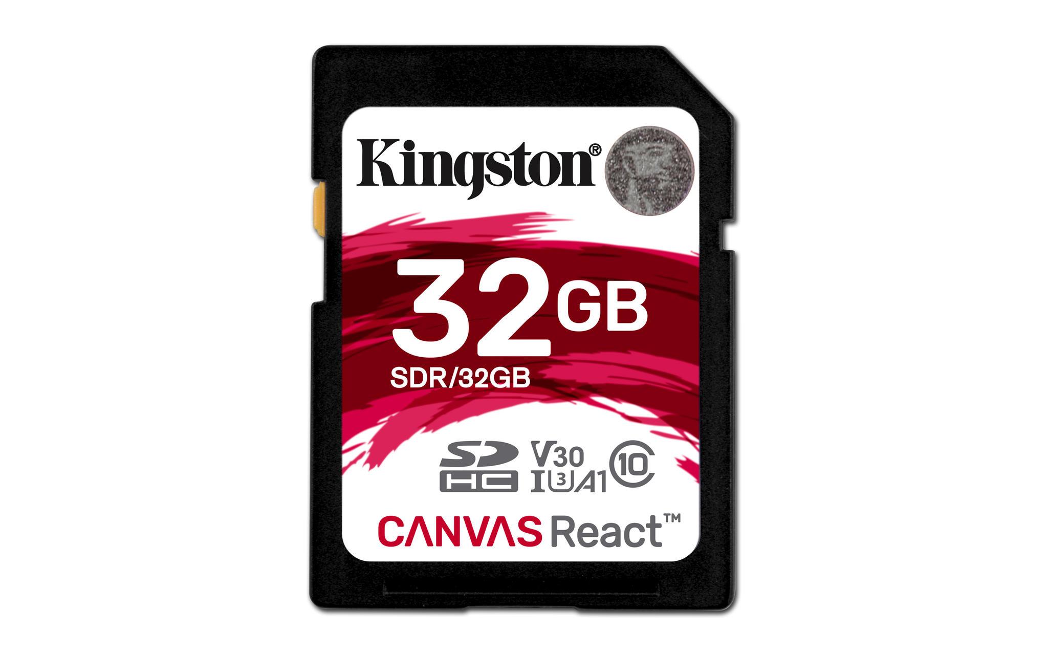 Kingston Canvas React 32GB SD kaart