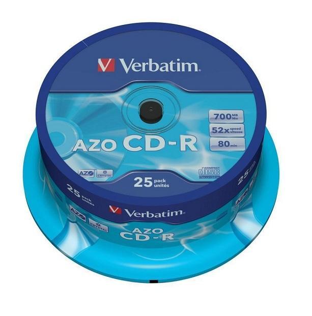 Verbatim CD-R AZO Crystal 25 stuks