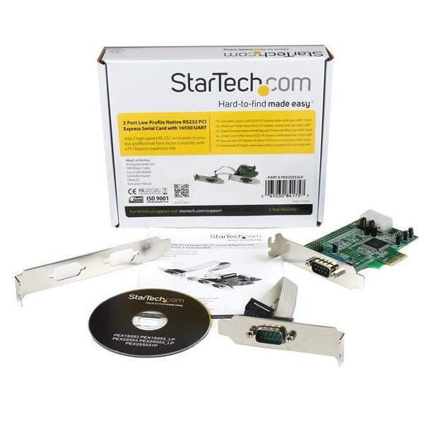 StarTech 2x Seriele Native RS232 LP PCI-E 1x