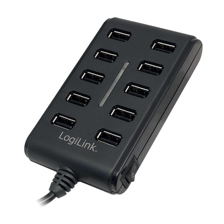 LogiLink UA0125 10-poorts USB lader