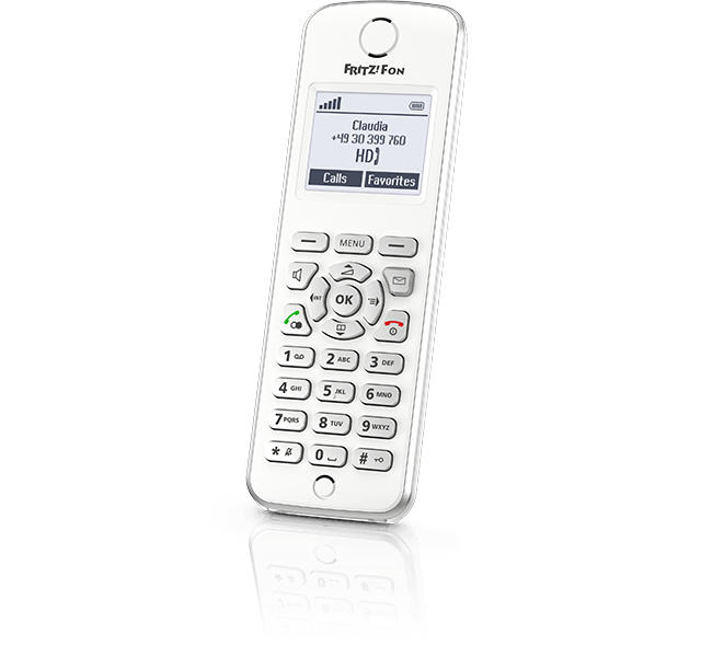 Image of AVM DECT Telefoon / White / HD audio / RSS / Podcast / Baby