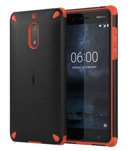 Nokia 6 Rugged Impact case oranje