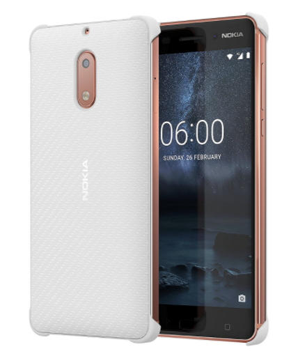 Nokia 6 Carbon Fibre design case wit