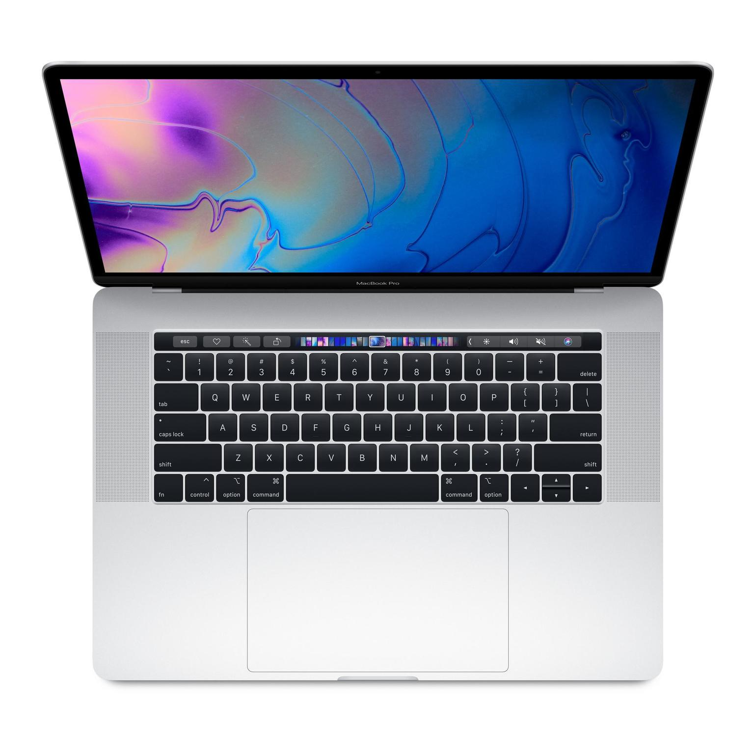 Apple Macbook Pro Touch 2018 15,4 256GB zilver