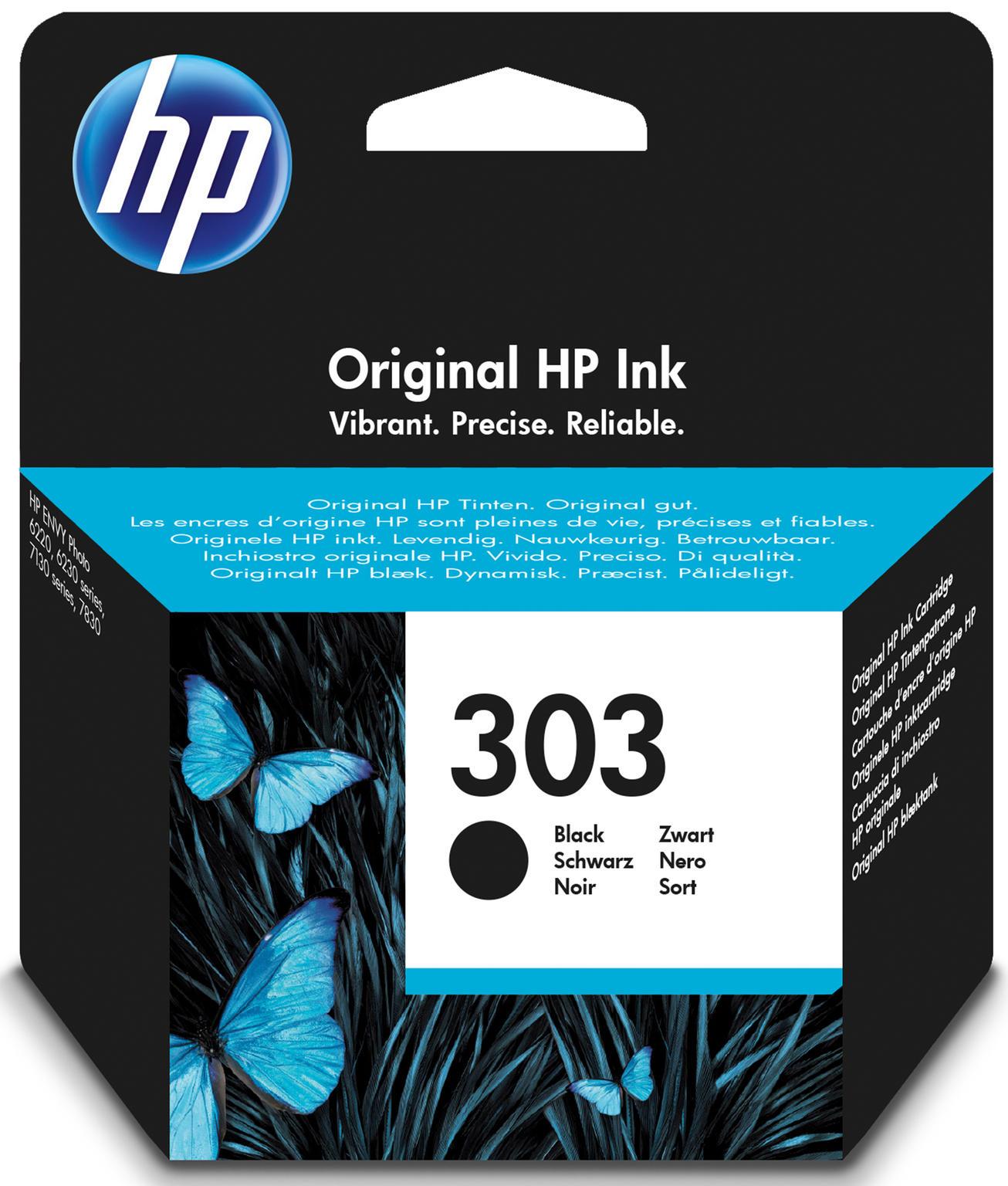 HP 303 Black Original 4ml 200pagina's Zwart inktcartridge