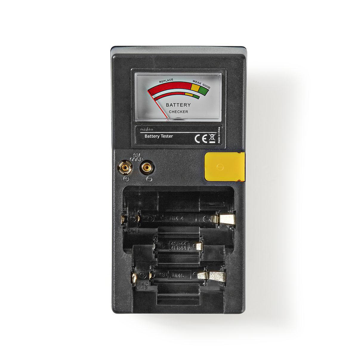 Batterijtester | AAA-, AA-, C-, D-, 9V- en Knoopcelbatterijen