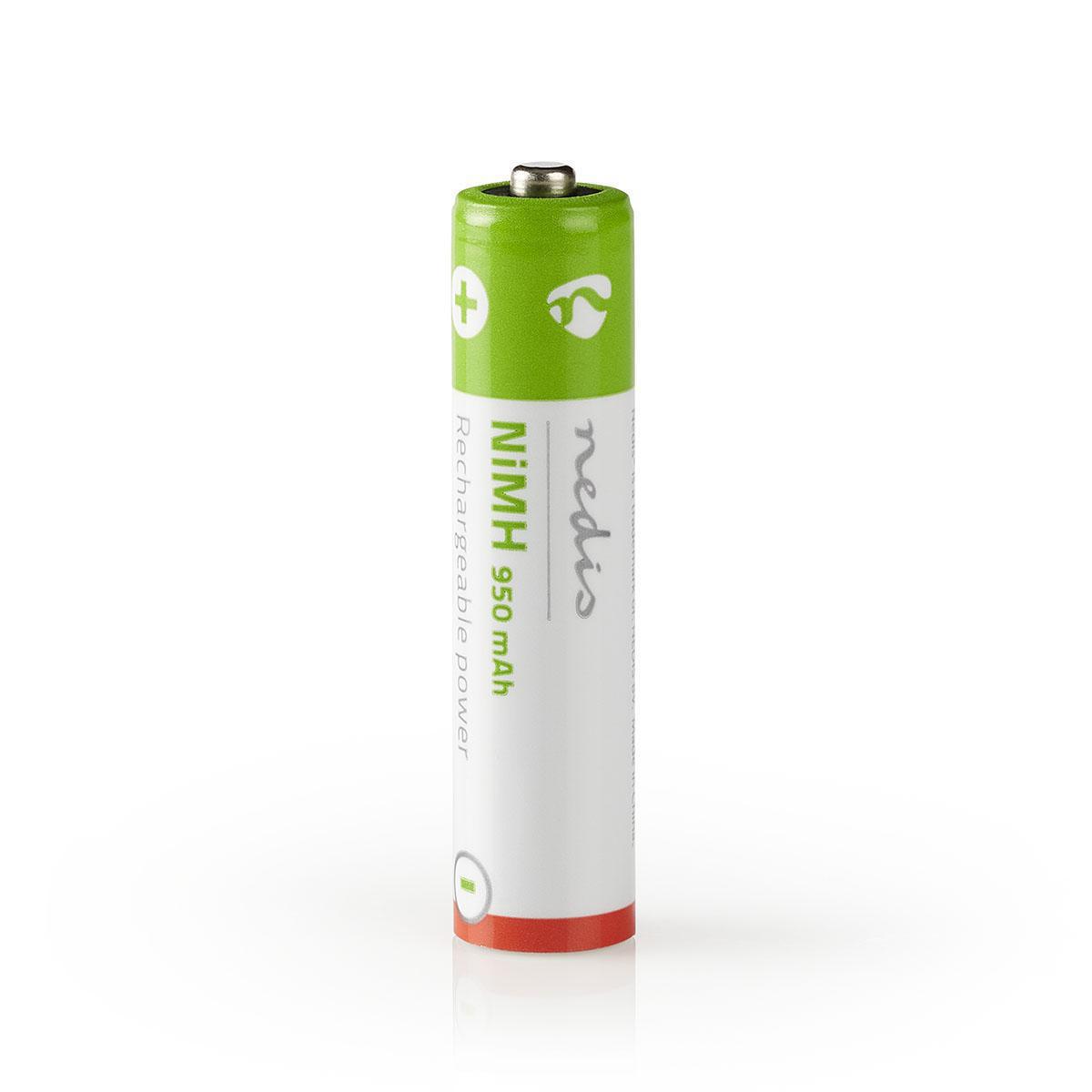 Nedis oplaadbare batterij 4x AAA voor telefoons