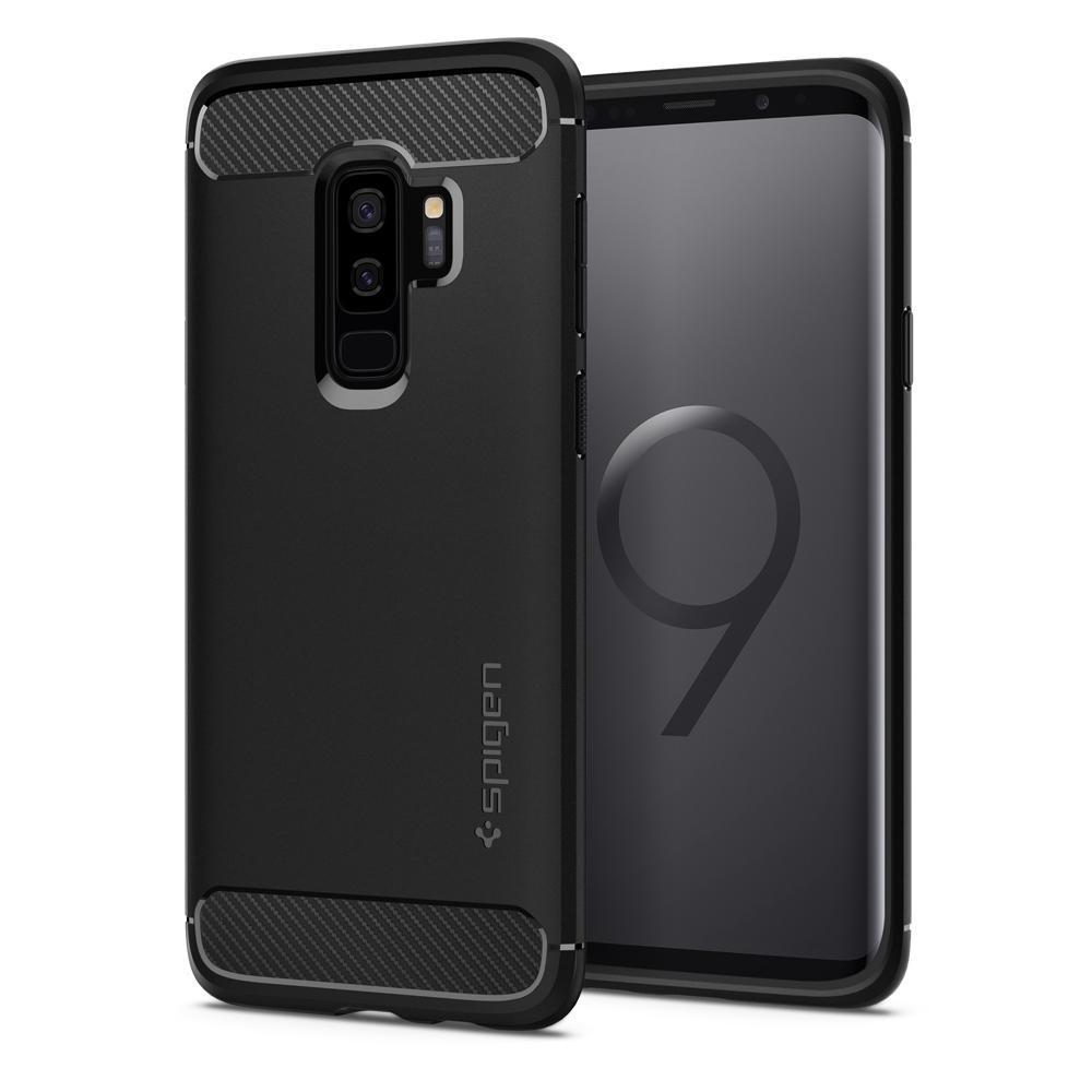 Spigen Rugged Armor Galaxy S9+ zwart