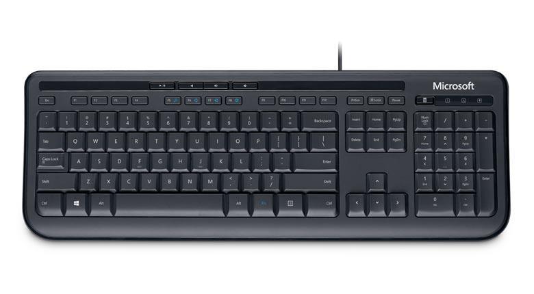 Microsoft Wired 600 AZERTY zwart