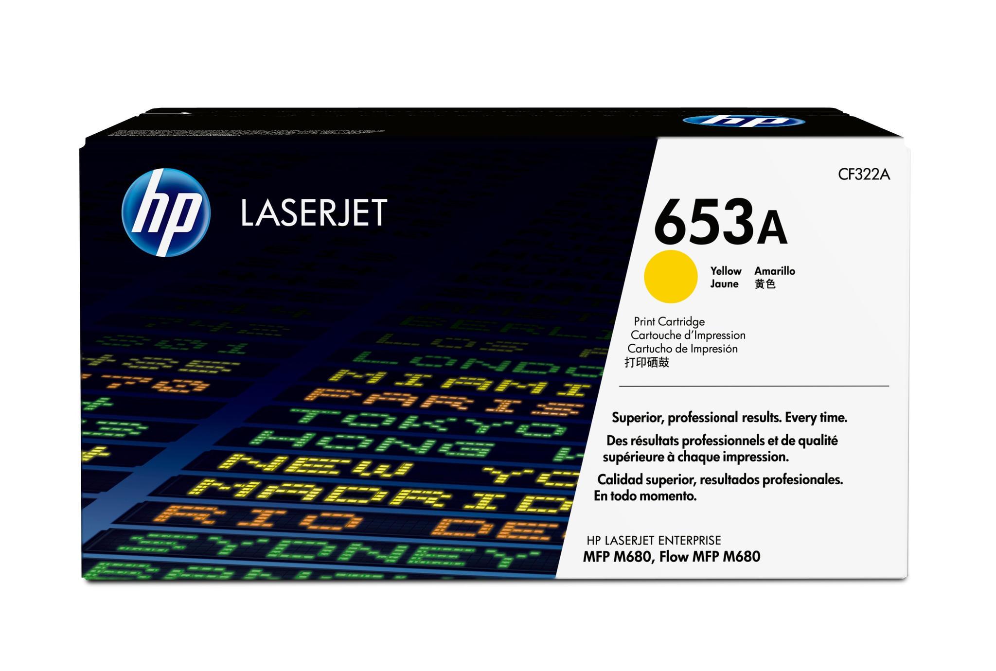 Tonercartridge HP CF322A nr.653A geel