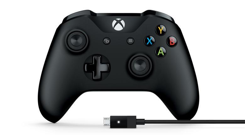 Microsoft Xbox ONE controller + Windows kabel