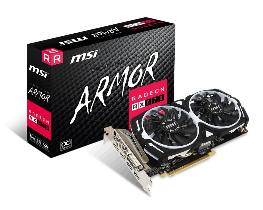 MSI Radeon RX570 Armor 8G OC