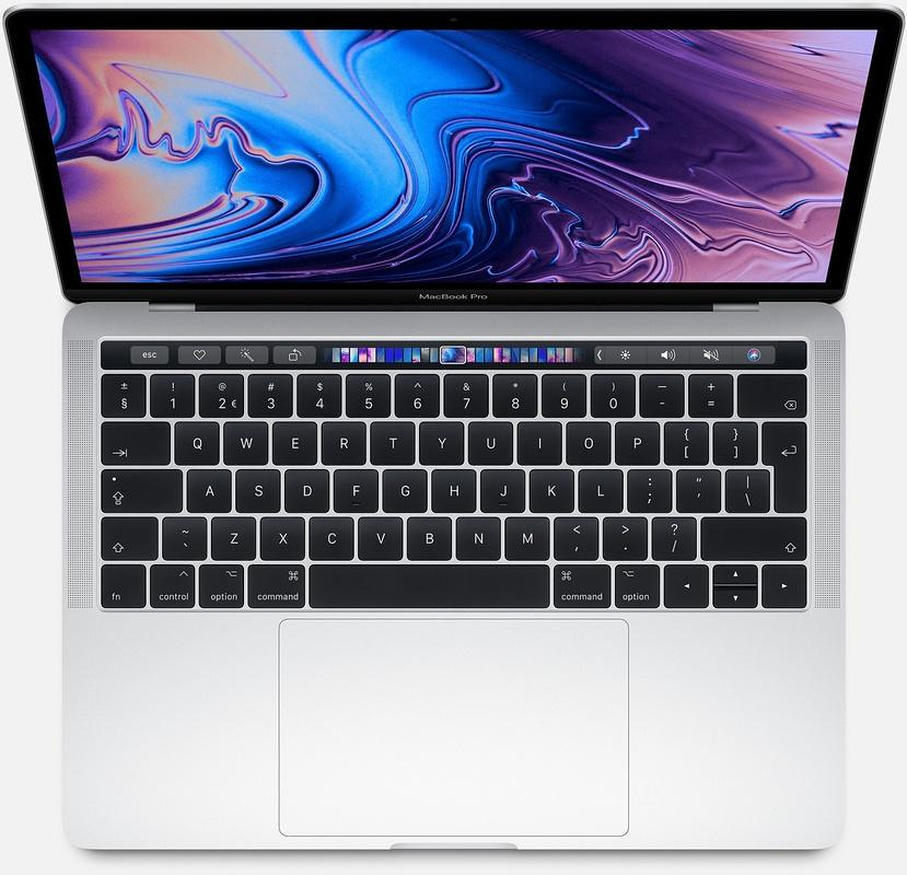 Apple MacBook Pro 13-inch Touch Bar en Touch ID (2,3GHz quad-core i5-8GB-512GB) Zilver