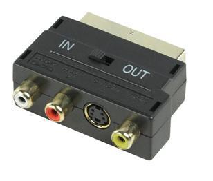 Image of SCART Adapter Schakelbaar SCART - S-Video + 3x RCA