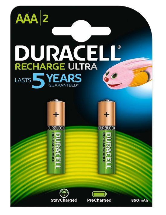 Duracell AAA oplaadbare batterijen 2 stuks
