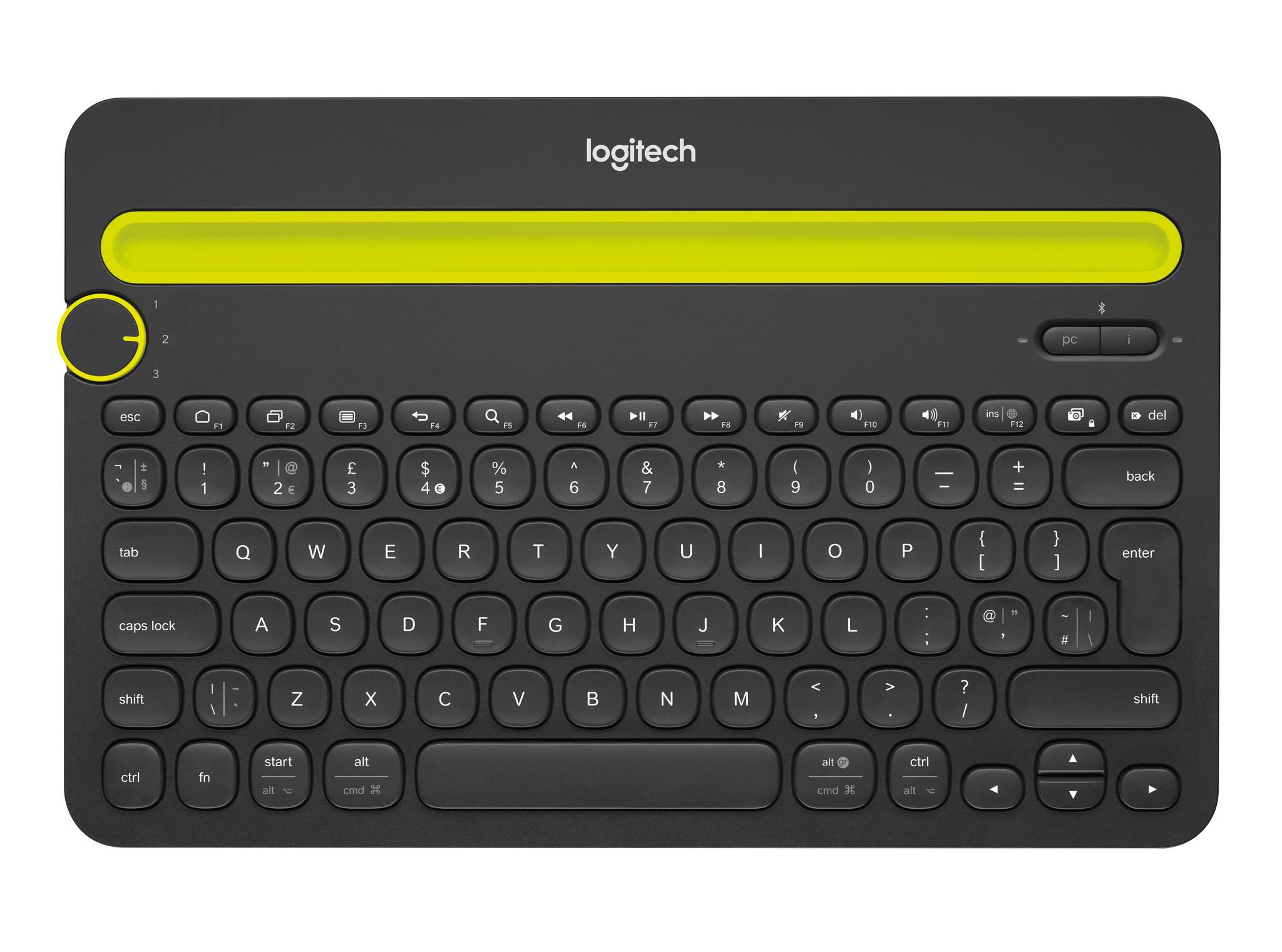 Logitech K480 Multi-Device zwart