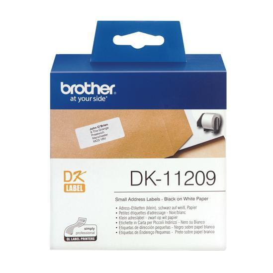 Brother adreslabel klein 62x29mm wit