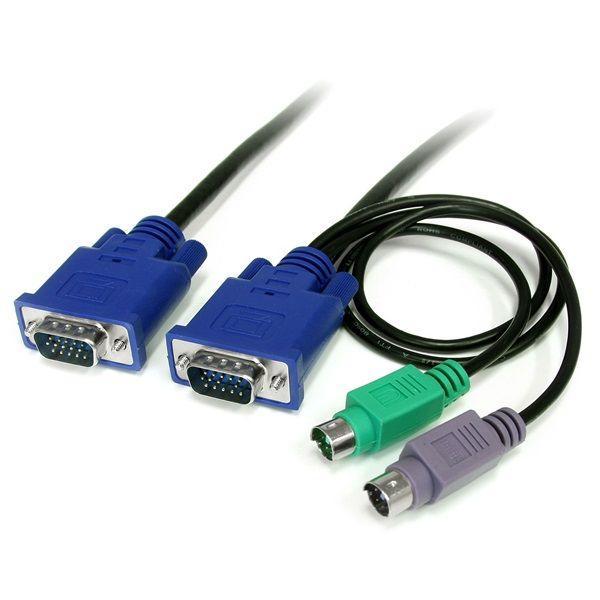 StarTech Ultradun 3-in-1 PS/2 KVM kabel 1,8m