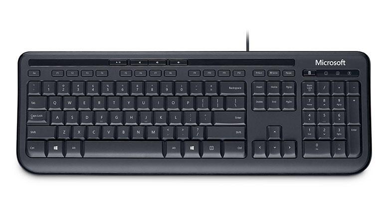 Microsoft Wired 600 zwart