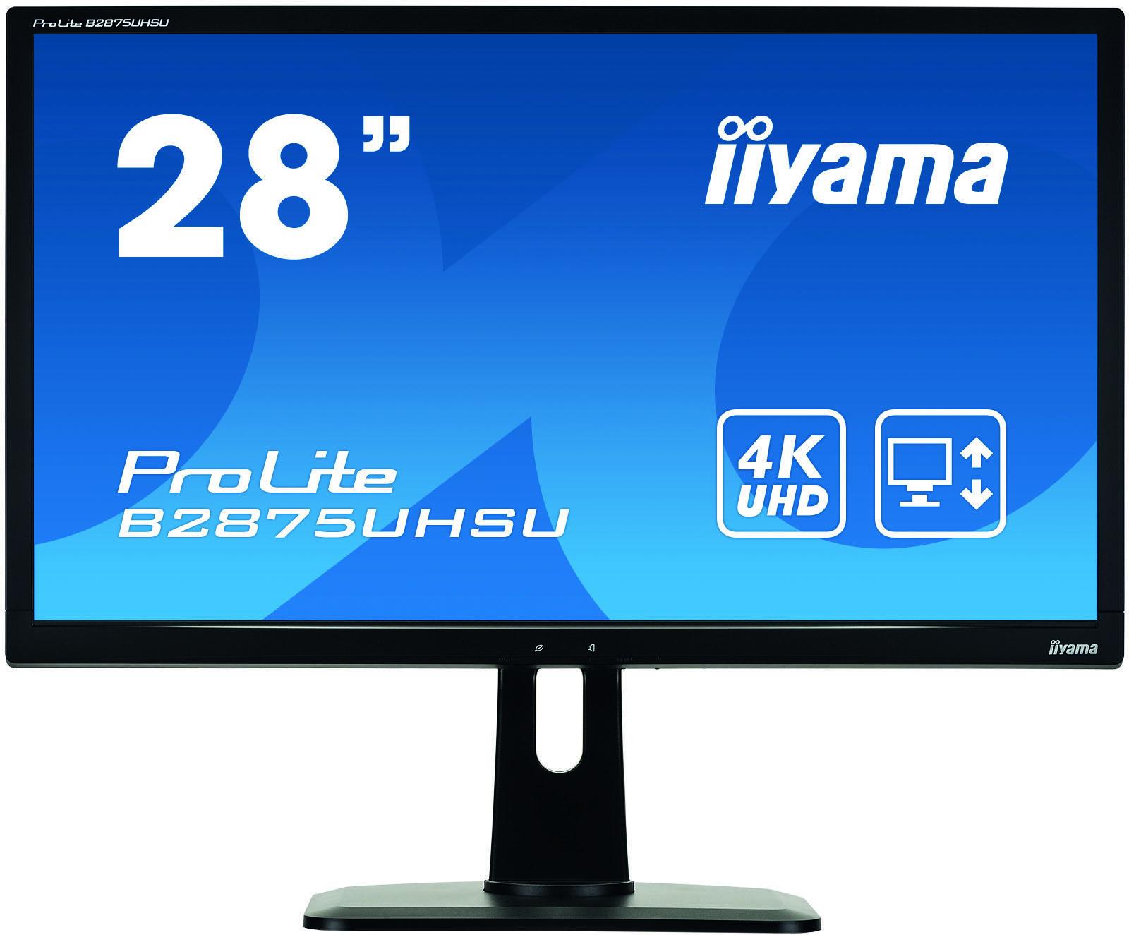 Iiyama ProLite B2875UHSU-B1 28  4K Ultra HD TN Mat Zwart computer monitor