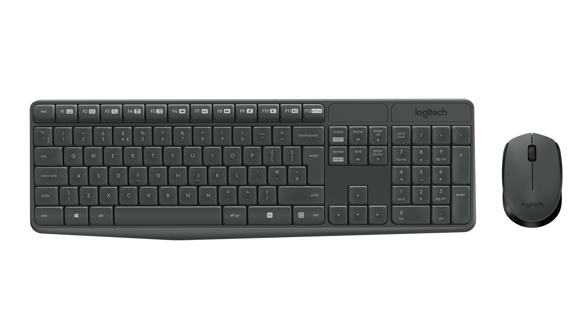 Logitech MK235 Wireless Keyboard and Mouse Combo-GREY-US INT'L-2.4GHZ-INTNL-(GR (920-007931)
