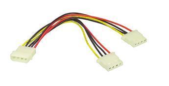 4-Pin Molex > 2x 4-Pin Molex Y-Kabel 20cm