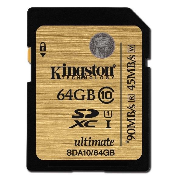 Kingston SDHX Ultimate 64GB Class 10 U1