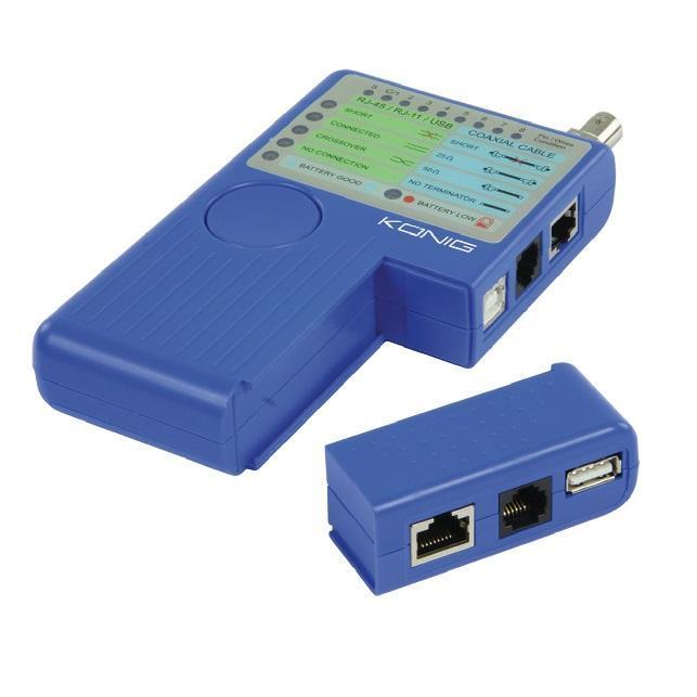 Konig Kabeltester voor UTP/USB/Coax/BNC