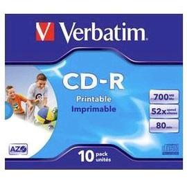 Verbatim CD-R Printable 10 stuks