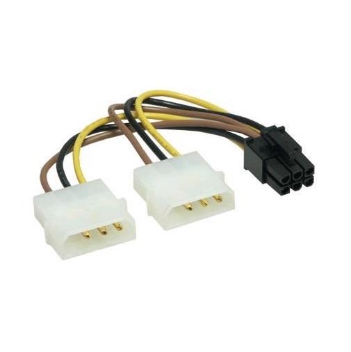 2x 4pins Molex naar 6pins PCI-E