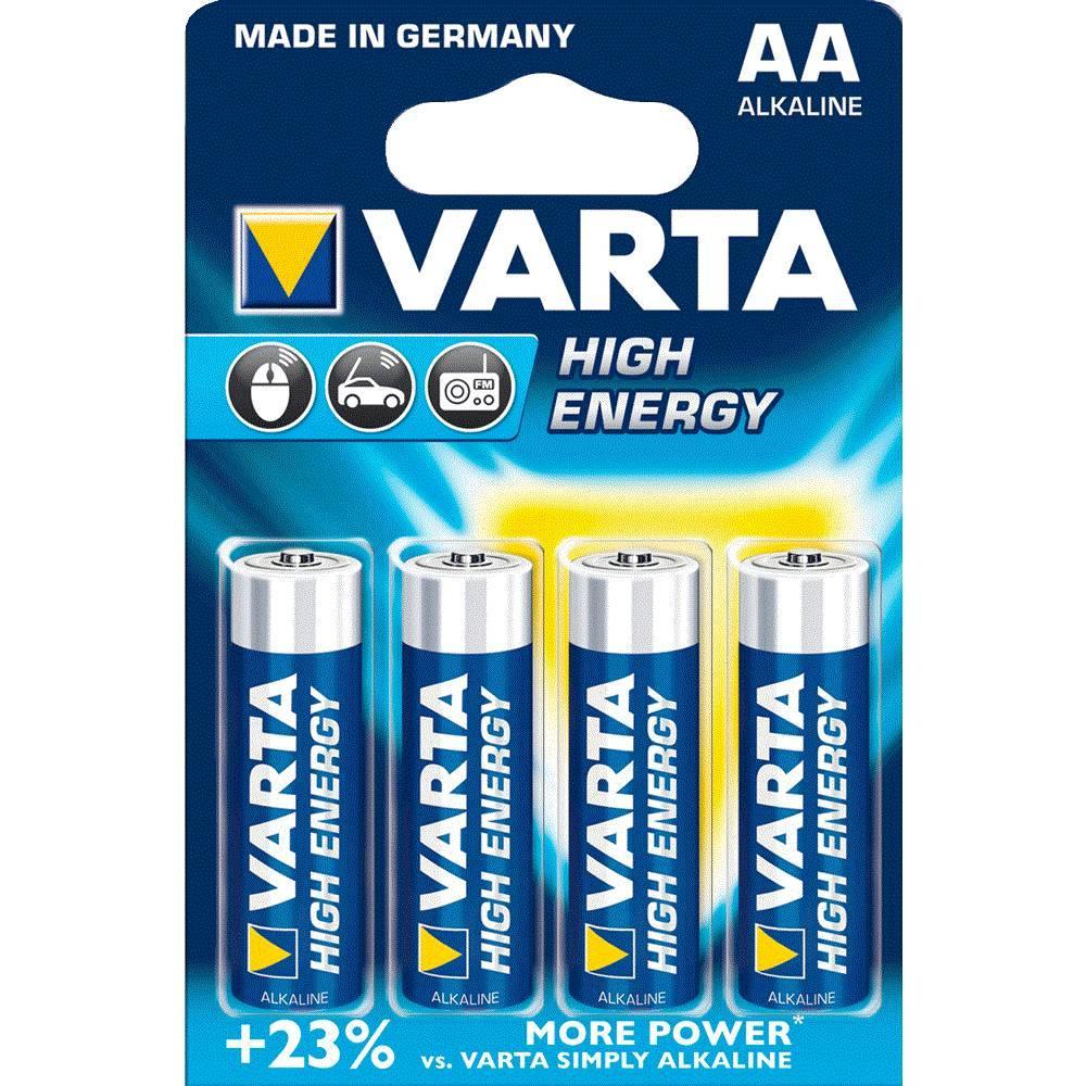 Varta LR6 AA batterij 4 stuks