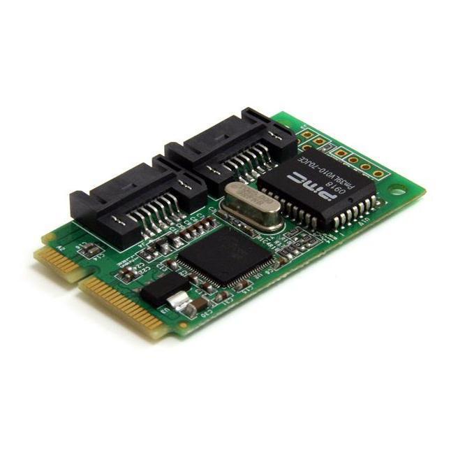 StarTech.com 2-poort Mini PCI Express Interne SATA II Controller-kaart