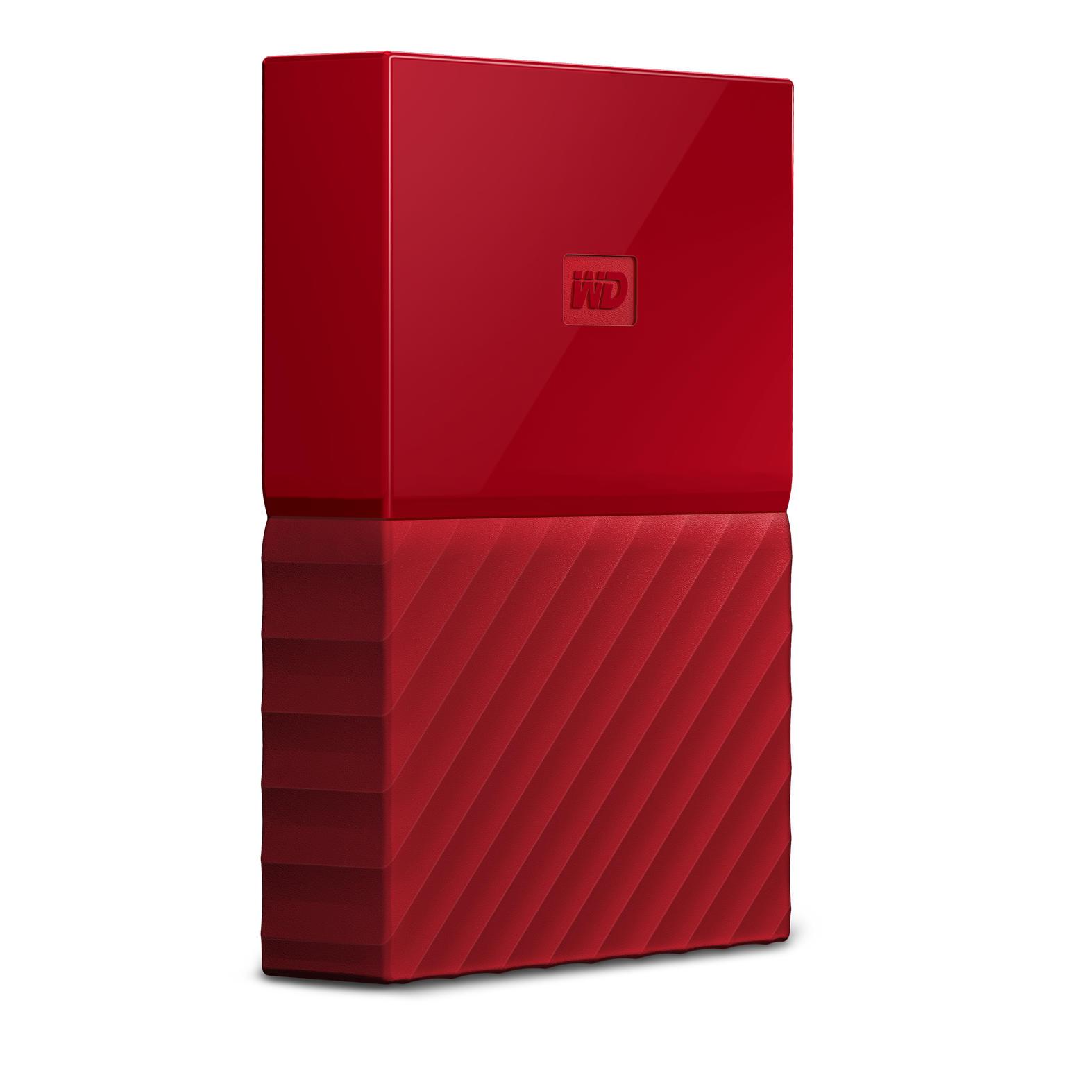 WD My Passport 4TB rood