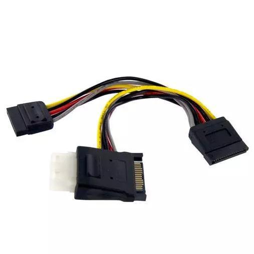 StarTech SATA naar LP4 met 2x SATA splitter 5cm