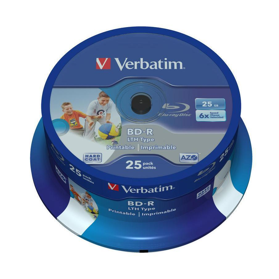 1x25 BD-R Blu-Ray 25GB 6x Speed wide printable Cakebox