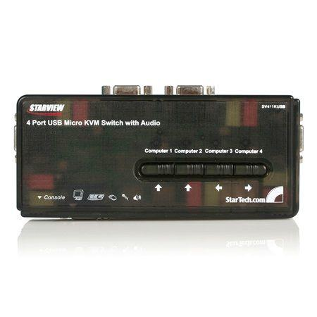 StarTech 4-poorts USB KVM switch met audio en kabels