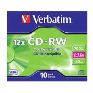 Verbatim CD-RW 10st Jewelcase