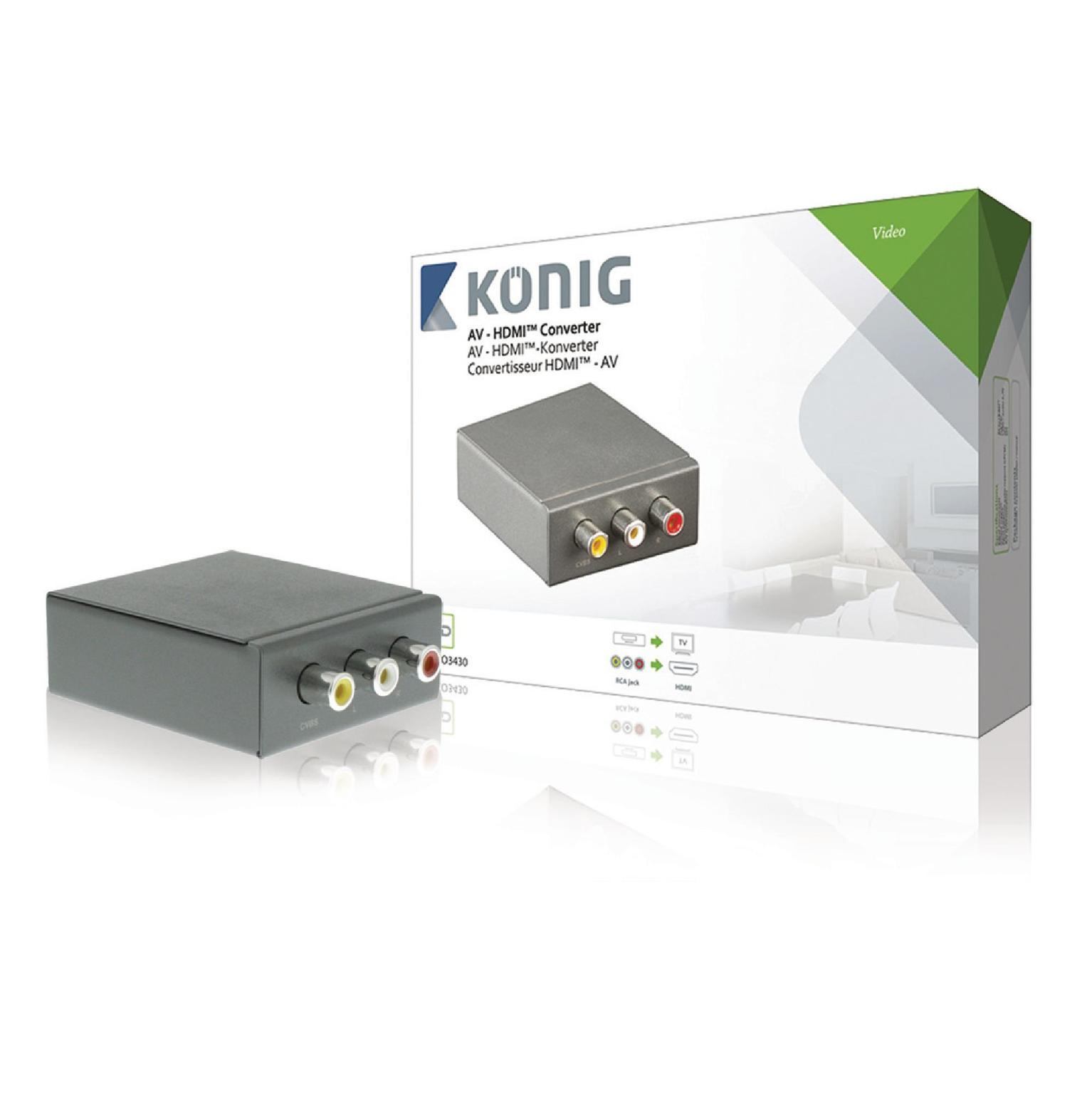 Image of HDMI Converter 3x RCA Female - HDMI-Uitgang Antraciet - König