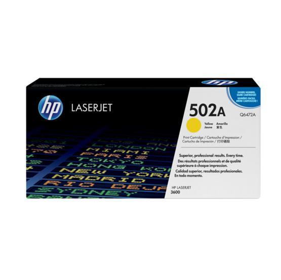 TONERCARTRIDGE HP 502A Q6472A 4K GEEL